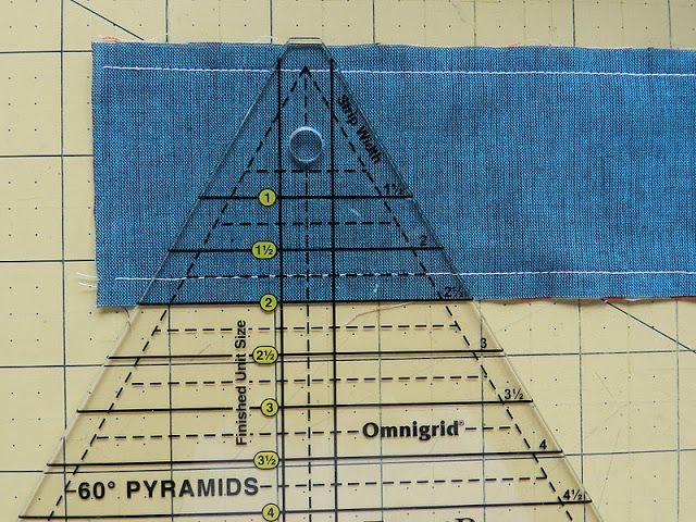 Molly Flanders: Pyramid Quilt,--- make triangles by sewing ...