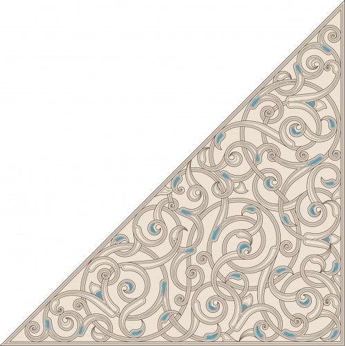 Triangular floral design from the Kaaba minbar.