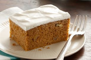 Pumpkin Spice Cake with Brown Sugar Frosting recipe