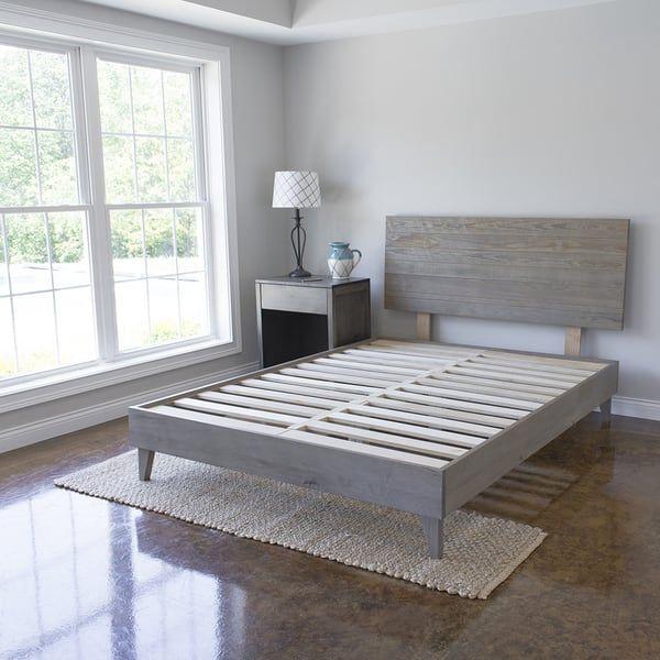 Headboard King Old Gray Zuo Bed Frame Headboard Wood Platform