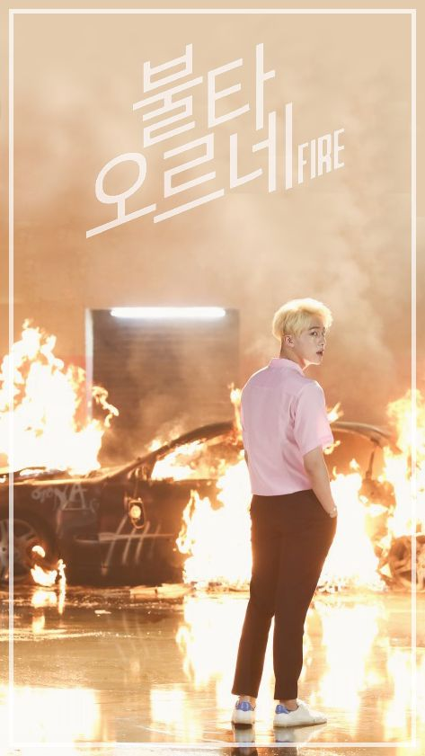 """BTS PHONE WALLPAPER --BTS """"FIRE"""""""