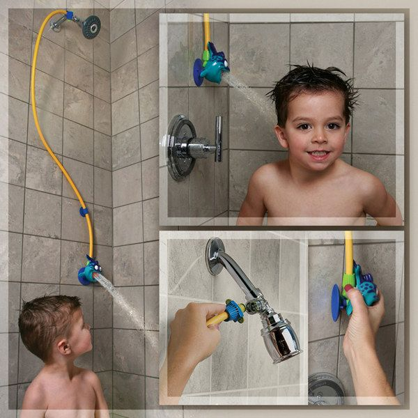 "Rinse Ace - ""My Own Shower"" Children's Showerhead - Bed Bath and Beyond.  Looks like a worthy $15 purchase!"