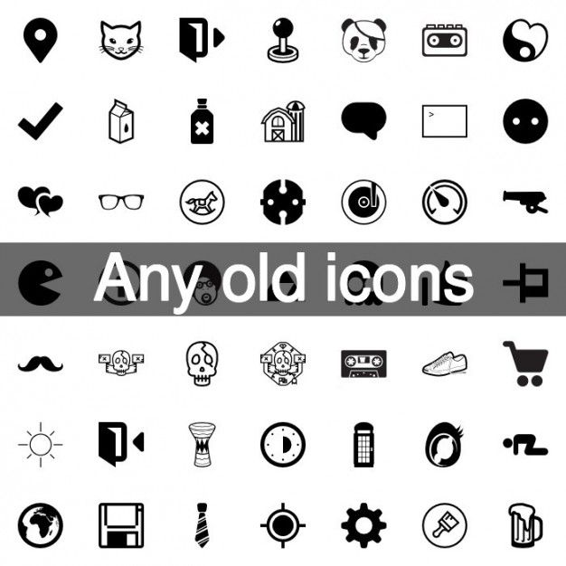 668 best vector icons images on pinterest vector icons free vintage and retro icons pack reheart Images