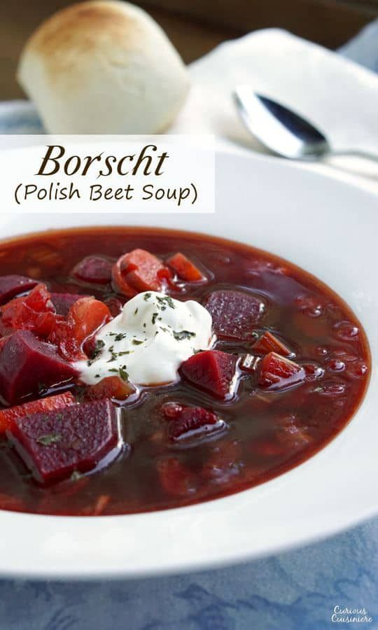 Our Polish Borscht recipe (Barszcz) creates a beet soup that is chock full of ve…