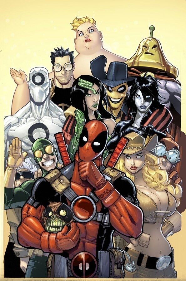 Deadpool cover by Humberto Ramos