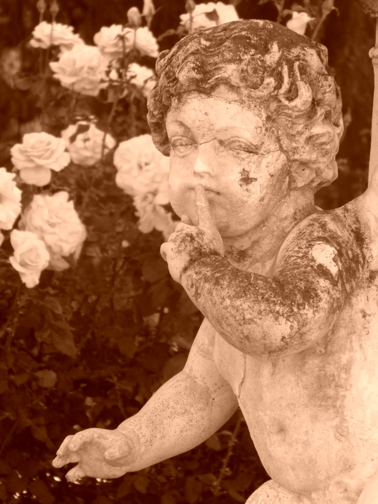 Seriously, marble statues are creepy. #statue #marble #creepy #cherub