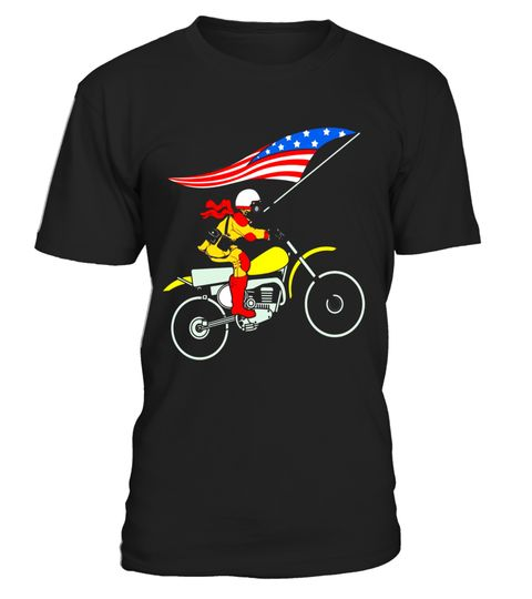 """# Dirt Bike American Flag Shirt 