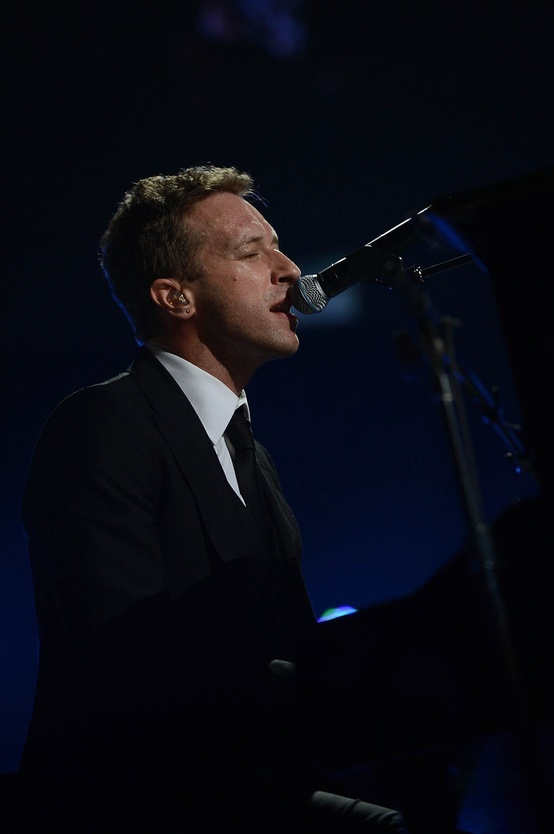 Chris so handsome at 12/12/12 Concert for Sandy Relief - at the piano singing Us Against the World