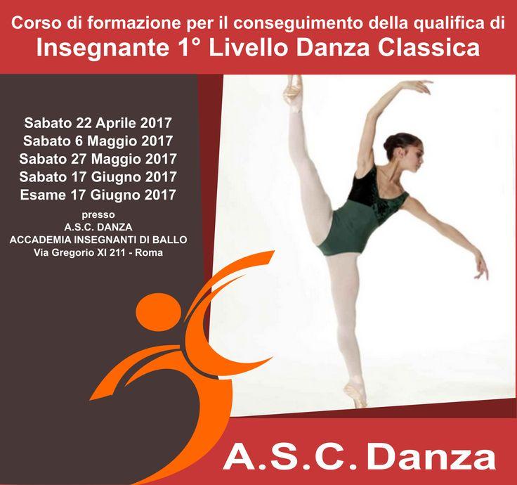 diploma di insegnante danza classica riconosciuto asc coni corso di formazione professionale