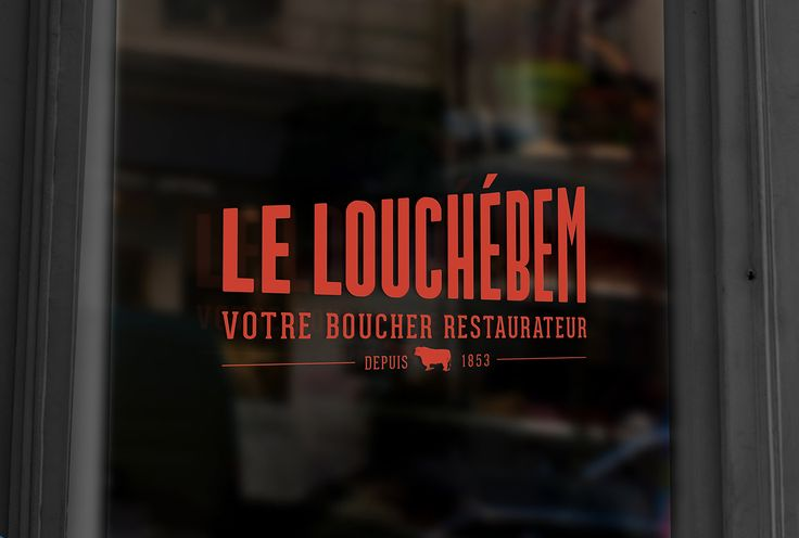 LE LOUCHEBEM - Parisian Butcher Shop & Restaurant on Behance