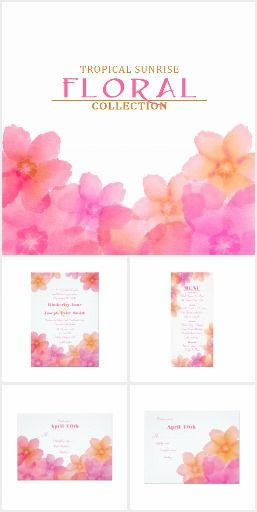 Combination Of Pinks And Oranges Lovely For A Beach Or Summery Outdoor Wedding Invitations Coordinating Stationary Reception Necessities