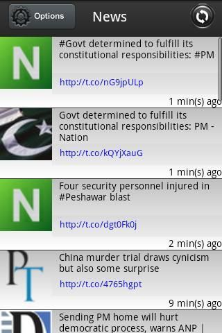 Pakistan Breaking News is a twitter client app which follows selected list of Pakistani news based Twitter accounts/feeds and updates you with the latest Pakistani news.<br/> <br/>This app is designed to get you quick and on-spot news without any clutter.<br/><br/>Features include:<br/>* Auto refresh after every 1 minute<br/>* Manual refresh<br/>* You can follow and un-follow twitter accounts<br/>* You can click on URLs in tweets to get detailed news within in the app<br/><br/>Currently…