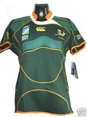 South Africa Rugby Shirt RWC 2007 Size L $29.99~$39.99