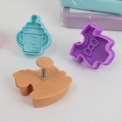 Utstickare med babymotiv 4 delar