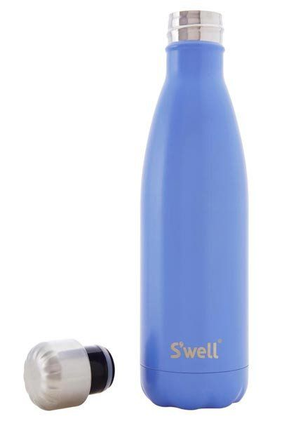 Swell Satin Stainless Steel Insulated Drink Bottle 750ml - Monaco Blue