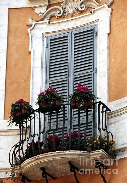 Italian style shutters - the stuff of dream homes