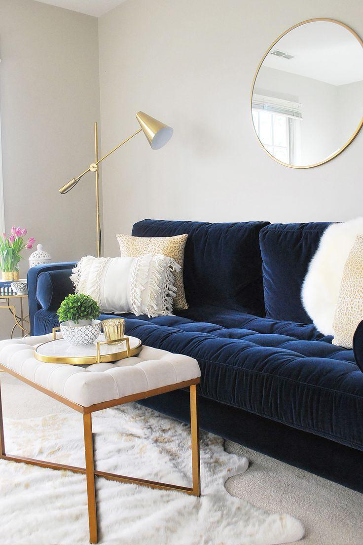 Sven Cascadia Blue Sofa Blue Couch Living Room Blue Sofas Living Room Velvet Sofa Living Room