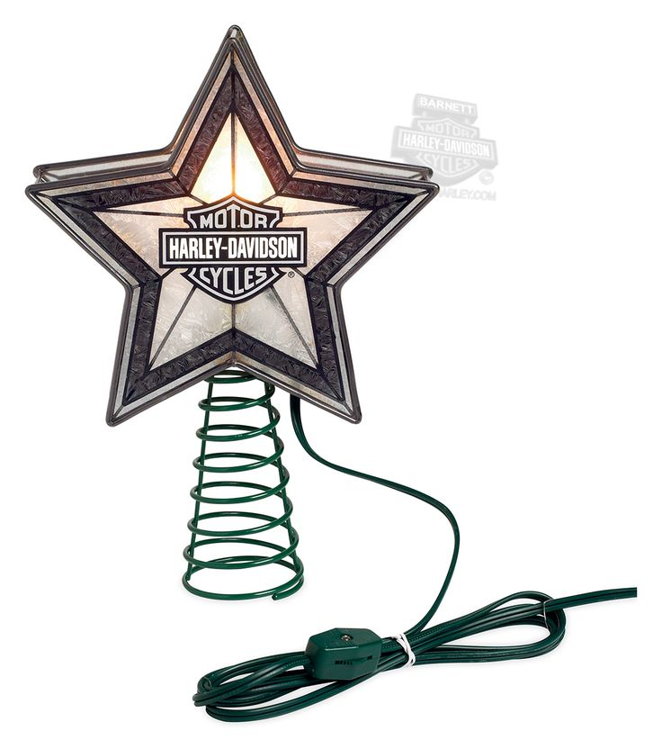 Harley Christmas Tree Topper | 96815-15V - Harley-Davidson® Art Glass Star with…