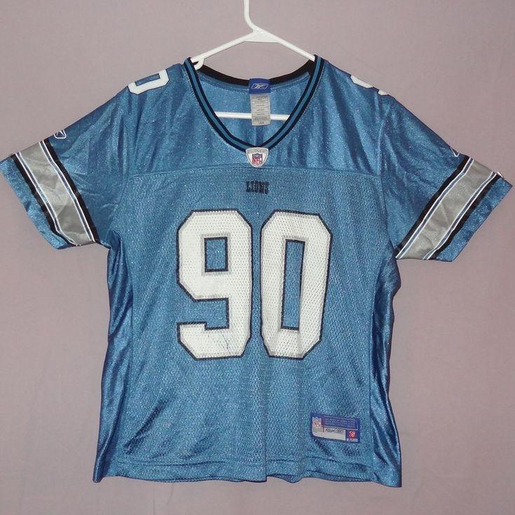 Reebok Women's NFL Jersey Lions Ndamukong Suh 90 Blue Size Large   Sports Mem, Cards & Fan Shop, Fan Apparel & Souvenirs, Hockey-NHL   eBay!