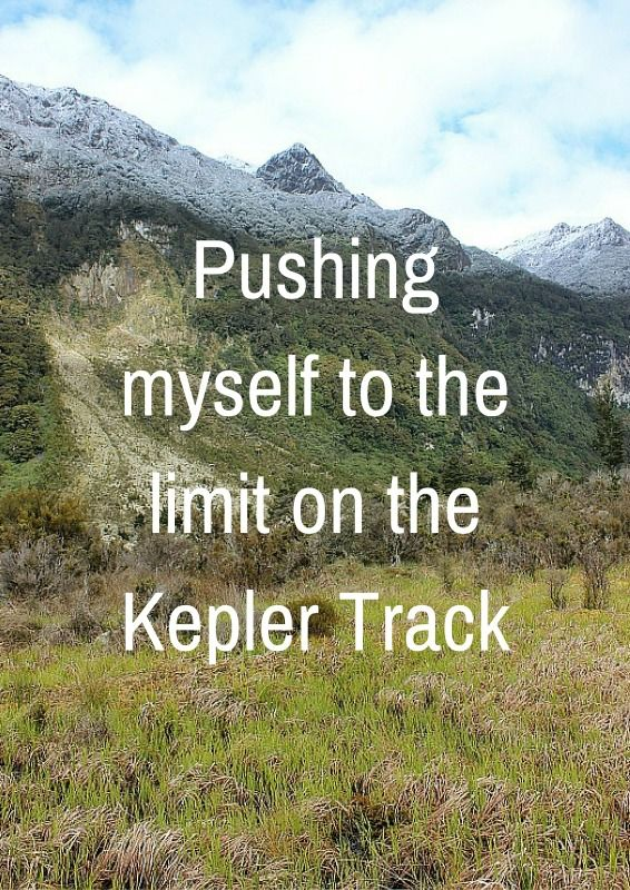 Pushing myself to the limit on the Kepler Track via The World on my Necklace