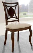 Silla de comedor tapizada 22 - Silla de madera para comedor clásica ...