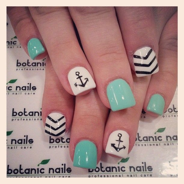 60 Cute Anchor Nail Designs - 25+ Best Nautical Nail Art Ideas On Pinterest Nautical Nail
