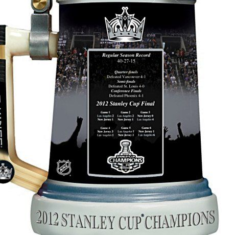 Officially-Licensed Los Angeles Kings 2012 Stanley Cup Champions Stein - detail