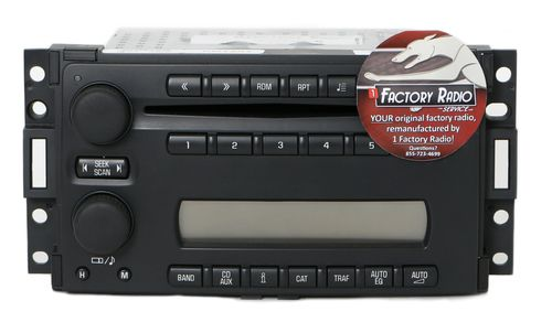 Remanufacture SERVICE for 05-07 Chevy Uplander Saturn Relay AMFM Radio 6 Disc CD