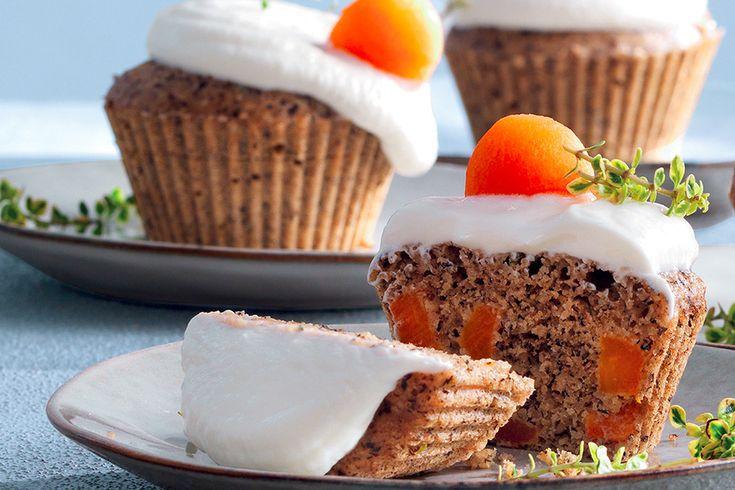 Muffin di carote con caprino e timo