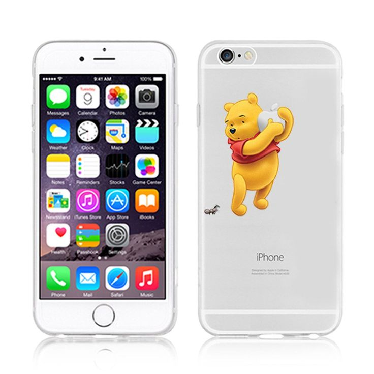 Ronney de Disney Winnie l'Ourson & amis Transparent Coque souple en TPU pour Apple iPhone 5/5 C/5S/6/6S & 6 +/6 + S, Winnie1, Apple iPhone 5c: Amazon.fr: High-tech