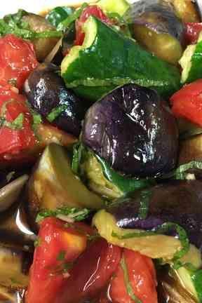 茄子きゅうりトマトの冷し鉢の画像
