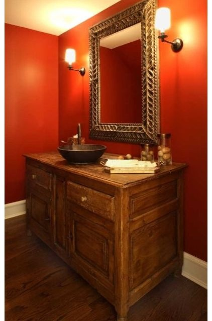 Red cent from sherwin williams sw 6341 brett pinterest for Southwest bathroom paint colors