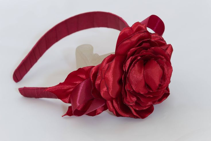 A personal favourite from my Etsy shop https://www.etsy.com/ie/listing/575722625/big-6-inches-red-kanzashi-rose-headband