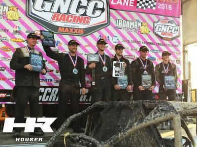 Houser Racing's GNCC XC1 Pro Rider Cody Miller wins the Championship aboard a Can Am Maverick with Houser Racing components.