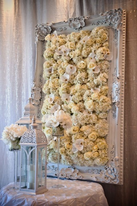 I would love this flower art as decorations on the wall or hallway before entering the ballroom or really anywhere, so beautiful!
