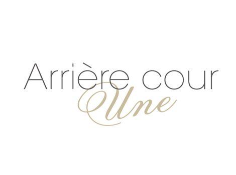 『Arriere cour une』logo design