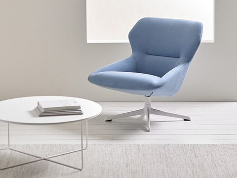Ginkgo Lounge Mid Back Chair From Davis Furniture   Shown With Valet Table