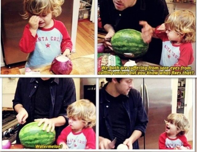 Cooking Fast & Fresh (Misha and West Collins) I don't care how famous they are I love when parents interact with their kids just because