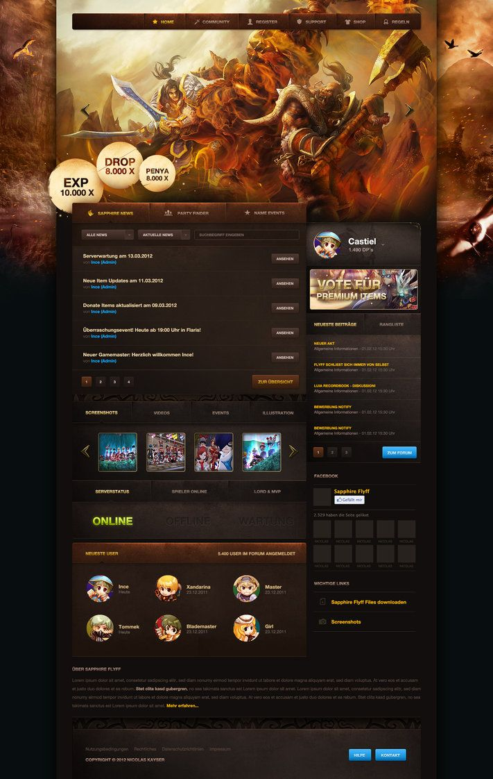 Crazy and professional gaming layout #webdesign