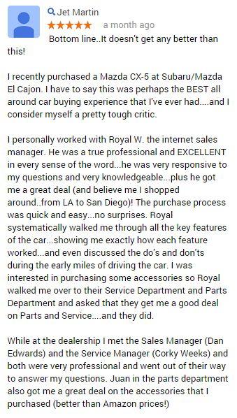 Wow! #CustomerService #MazdaElCajon