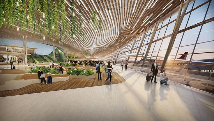 UNStudio taiwan taoyuan international airport terminal 3 competition designboom