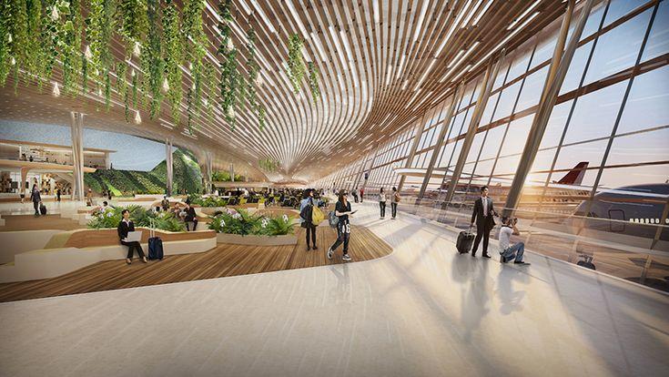 UNStudio taiwan taoyuan international airport terminal 3 competition designboom