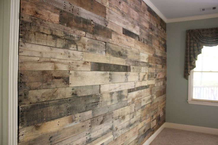 Reclaimed wood wall google search interior inspiration for Reclaimed pallet wood wall