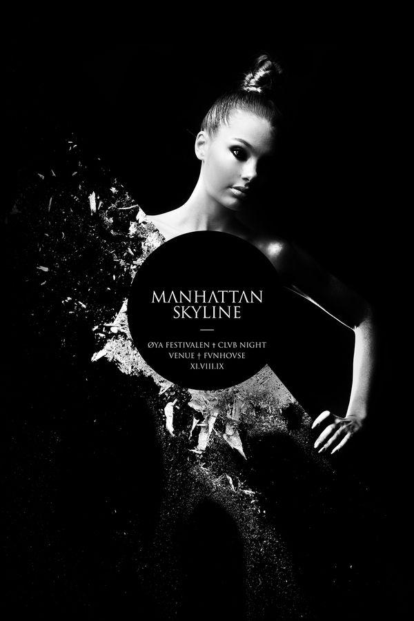 Manhattan Skyline / Øya Festival Clvb Night by Fredrik Melby, via Behance