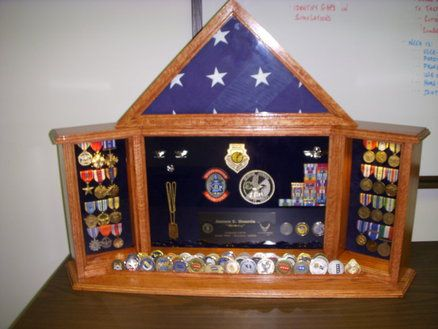 military coin shadow box