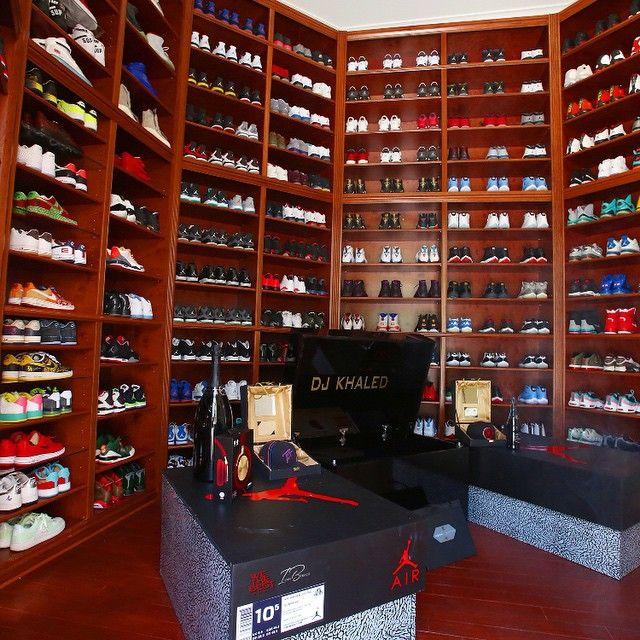 DJ Khaled's Sneaker Closet