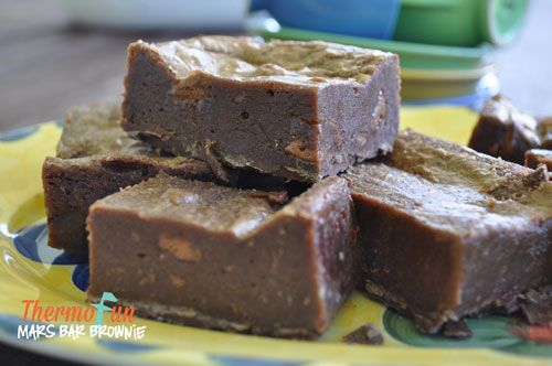ThermoFun - Wicked Wednesday - Mars Bar Brownie Recipe - ThermoFun | making decadent food at home |