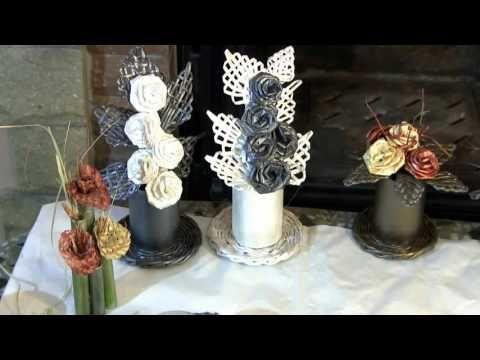 Flores  de  papel, hechas  con sus  propias  manos.  Composicion para un...