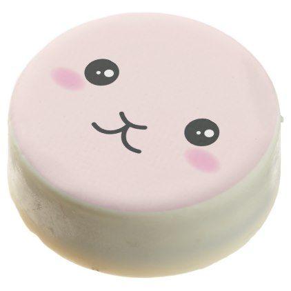 Cute Kawaii Pink Bunny Design Chocolate Dipped Oreo - animal gift ideas animals and pets diy customize