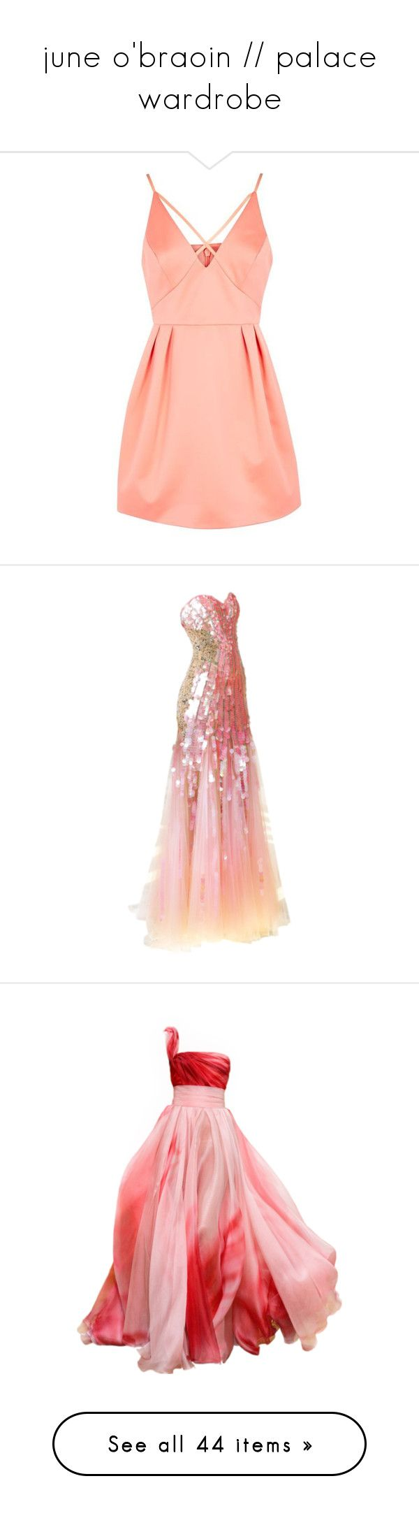 """""""june o'braoin // palace wardrobe"""" by slightlyterrified ❤ liked on Polyvore featuring dresses, vestidos, formal cocktail dresses, party dresses, petite prom dresses, red party dresses, red prom dresses, gowns, edited and long dress"""
